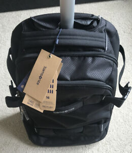 Samsonite Sonora Laptop Backpack/WH55/20  Black on Wheels NEW Boxed