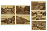 LOT of 7 St. Agnes CORNWALL UK Frith & Co. Sepia White Border Photo Postcards