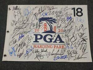 Collin Morikawa Dechambeau +45 2020 PGA Championship Signed Flag Autographed COA
