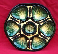 Vintage Oyster Plate St Jean Bretagne Faience Near Quimper