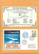 CONCORDE SST BRITISH AIRWAYS FIRST FLIGHT ROME-LONDON SEP 1982FLOWN ON
