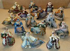 15 Thomas Kinkade Old World Santas Heirloom Ornaments from Ashton-Drake 2003