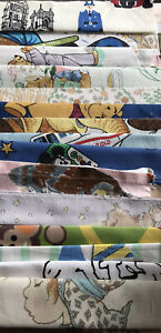 500g Vintage Childrens Themed Fabric Scrap Bundle Sewing Remnants Cotton  X 15