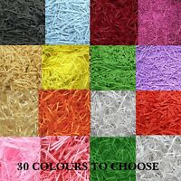 SHREDDED PAPER 30 COLOURS  Luxury Shredded Paper Hamper Fill Basket Filler Shred