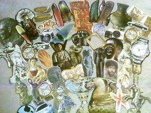 (12/5C)vintage EPHEMERA paper CRAFTING lot-scrapbooking ART collage CUT-OUTS