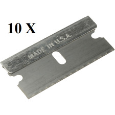 10 pc Razor Blades Single Edge Extra Sharp Super Strong. Made in Usa!