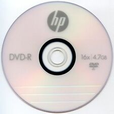 25PK HP Logo 16X DVD-R DVDR Blank Disc Storage Media 4.7GB with Paper Sleeves