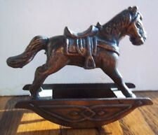 "Collectible Miniature Metal Rocking Horse 1.5"" x 2.5"""