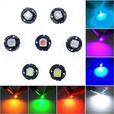 10x Bright 12V T4.7 5050 1SMD LED Wedge Light Bulb Car Dashboard Indicator Light