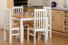 New Oak Pine and White Dining Set with 4 Chairs Collection Belfast Only