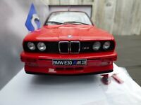 Solido 1:18 Red Diecast BMW M3 E30 1990  M Power Turing Champion Toy Model Car