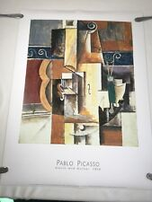 """Pablo Picasso Violin and Guitar Poster Artists Rights Society 31.5""""x 23.5"""""""