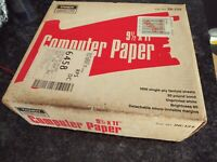 Tandy Computer White Paper (whole case) - 9 1/2 x 11 - Fanfold Sheets