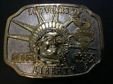 Vintage Statue of Liberty 100 Years Of Liberty 1886-1986 Belt Buckle
