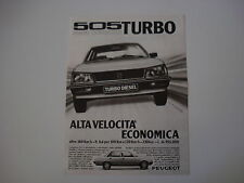 advertising Pubblicità 1981 PEUGEOT 505 TURBO DIESEL