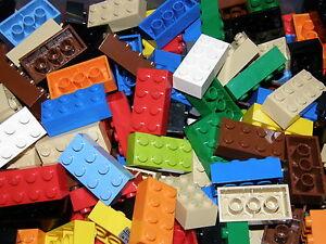 LEGO 75 MIXED COLOR BRICKS 2 x 4  No 3001  CITY-STAR WARS-FRIENDS-MOVIE