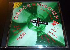 """DANCE MISSION Volume 4"" (Import CD 1994) Euro House 20-Tracks DJ Bobo/Cappella"