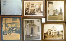 CIRCA 1900 ARCHITECTURE PHOTOS + CYANOTYPE LARGE WOOD FRAME HOUSE
