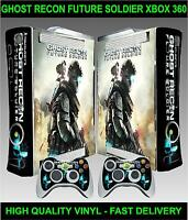Xbox 360 Console Sticker Skin Ghost recon future soldier Skin & 2 X Pad Skins