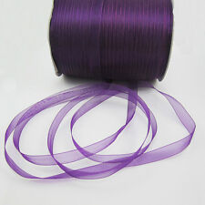 "New 50 Yards 3/8"" 9mm Satin Edge Sheer Organza Ribbon Bow Craft many color pick"