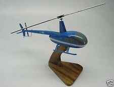 R-44 Raven Robinson R44 Helicopter Desk Wood Model Big New