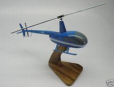 R-44 Raven Robinson R44 Helicopter Desk Wood Model Big New