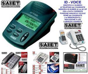SAIET IDENTIFICATORE del NUMERO CHIAMANTE ID-VOICE con FUNZIONI di AVVISO VOCALE