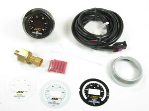 AEM Digital Oil & Fuel Pressure Gauge Kit w/ LED Interface 0 to 100 PSI 30-4401