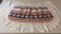 1960s Apron Half Handmade Pink Gingham Pocket Kitchen Linens Vintage