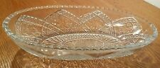 Eapg Indiana Glass Flower Medallion Oval Dish/Bowl Roll Tray