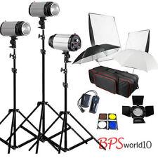Photo 750W STUDIO Flash Lighting PHOTOGRAPHY STROBE LIGHT KIT 3 x 250W UK Plug