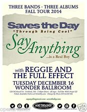 SAVES THE DAY/SAY ANYTHING/REGGIE & THE FULL EFFECT 2014 PORTLAND CONCERT POSTER