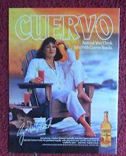 1987 Print Ad Jose Cuervo Tequila ~ Classy Angelica Huston Drinking a SEABREEZE