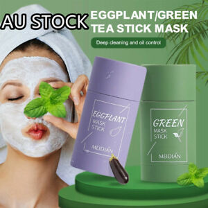Green Tea Eggplant Purifying Clay Stick Mask Oil Control Anti-Acne Fine Solid AU