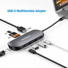 USB C Hub 8 in 1 USB Type C 3.1 Adapter Dock with 4K HDMI PD Charge for MacBook