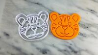 Tiger Face Cookie Cutter 2-Piece, Outline & Stamp #1 Zoo Animals Safari
