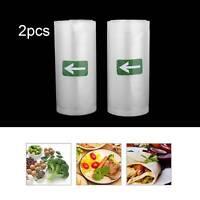 2 Pack Vacuum Sealer Bags 5' X 500CM Food Seal Bag For Kitchen Food Saver US