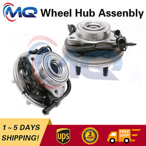Pair Front Wheel Hub Bearing for Ford Explorer Mercury Mountaineer w/ABS 515050