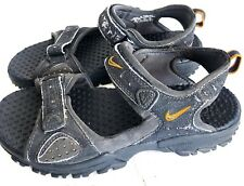 Youth Kids Nike Navy Blue Yellow Velcro Sandals Size 2