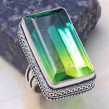 Ring Us Size-8 Ar 42601 Bi-Color Tourmaline Jewelry Handmade Antique Design