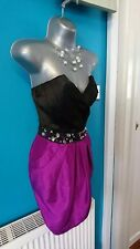 £90 lipsy dress 14 wedding black mini evening embellished Prom Christmas gown
