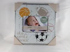 """Fetco Home Decor Tiny Miracles 6"""" x 4"""" Photo Frame - New - Our Little Rookie"""