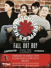 RED HOT CHILI PEPPERS / FALL OUT BOY / LABRINTH 2016 BELFAST CONCERT TOUR POSTER