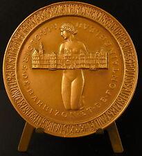 Médaille à la gloire de Barbizon Château de Fontainbleau animal femme nue Medal