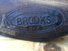 Very Rare Brooks B47 Alloy Plate Sprinter Saddle, 1948-52, Brown