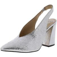 Vince Camuto Womens Tashinta Silver Dress Heels Shoes 7 Medium (B,M) BHFO 5596
