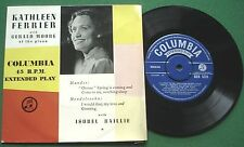 """Kathleen Ferrier & Isobel Baillie with Gerald Moore - Piano SED5526 7"""" EP"""