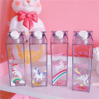 500ml Unicorn Cartoon Water Drink Bottle Fantastic Summer Milk Box Birthday Gift