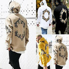 Fashion Men's Floral Hoodies Hooded Sweatshirt Pullover Jacket Coat Outwear Tops