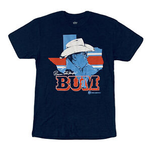 New NFL Houston Oilers Bum Phillips Men's Blue Lone star State SHIRT Size S